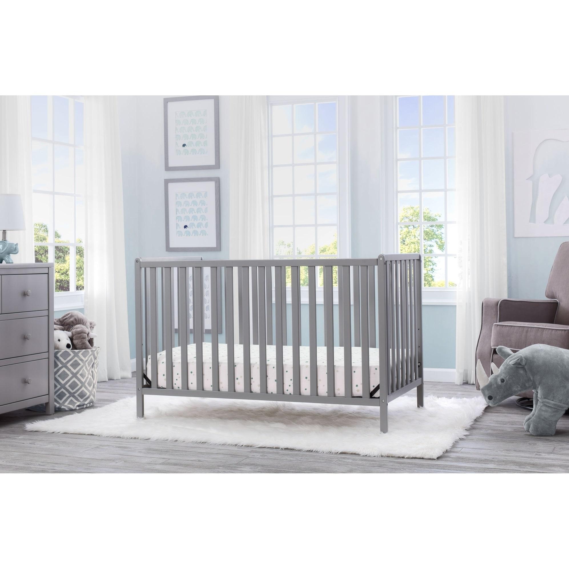 Delta Children Heartland 4 In 1 Convertible Crib Grey Overstock 17177106