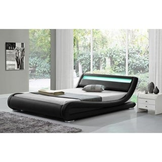 Ladeso SL-Edgewater Modern Queen Black LED Bed