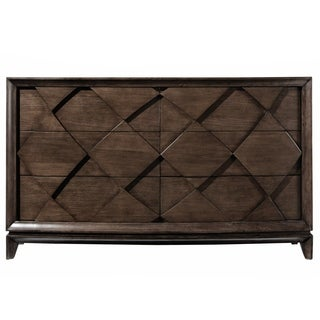 Meridian Contemporary Amaretto Brown Double Drawer Dresser