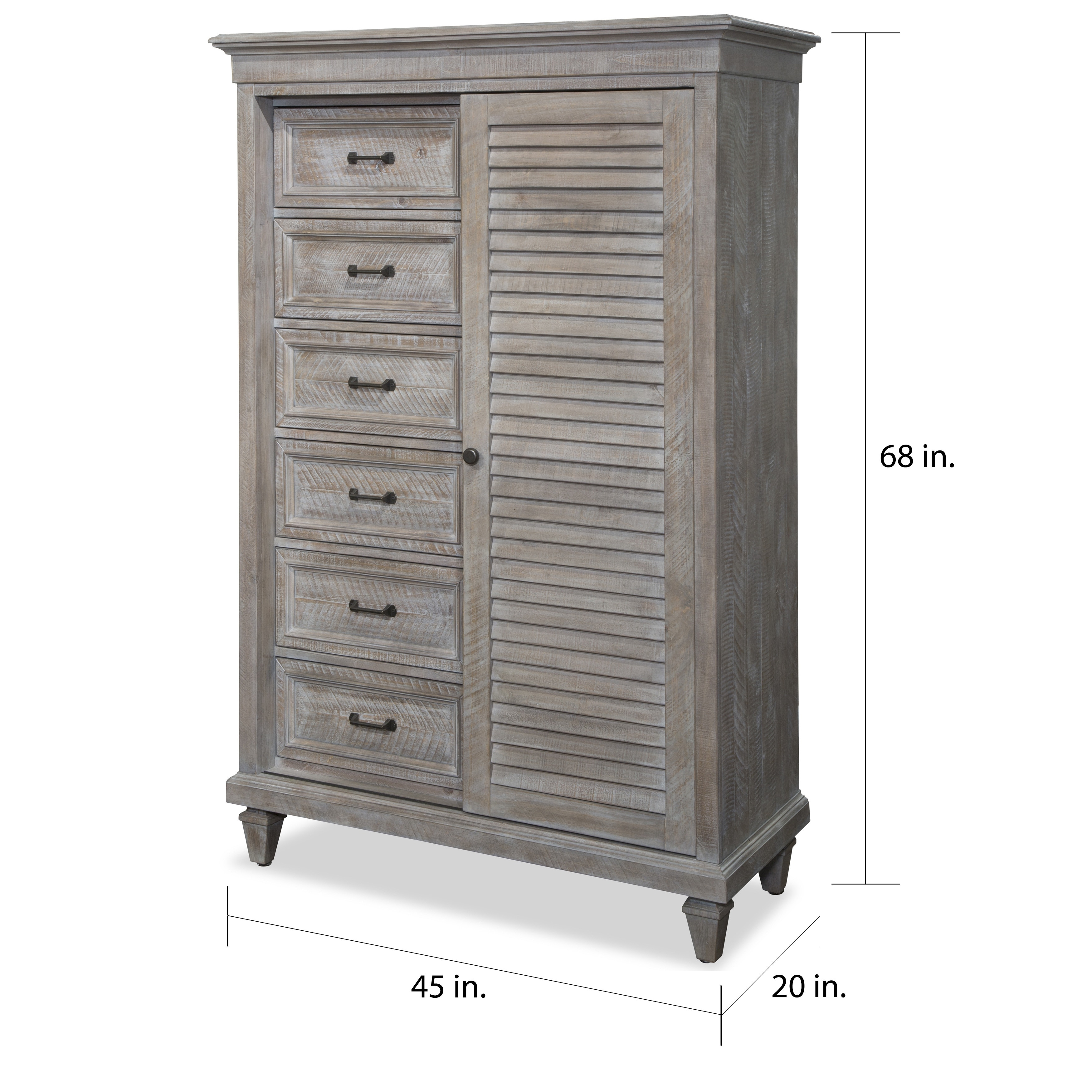 Lancaster Traditional Dovetail Grey Gentlemans Chest