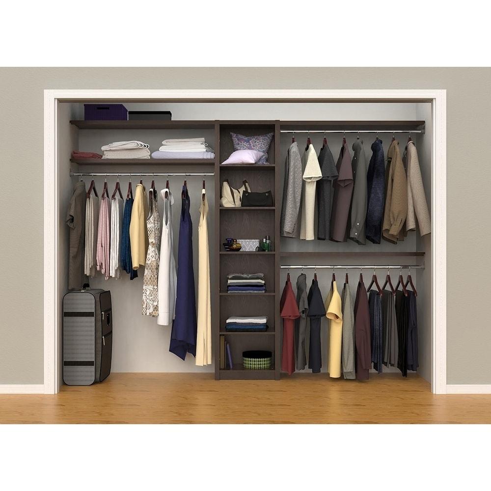Closetmaid Spacecreations 44 115 Closet Organizer Kit On Sale Overstock 17177178 Brown