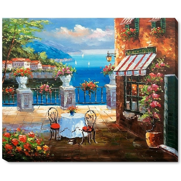 Cafe Italy' Hand Painted Oil Reproduction