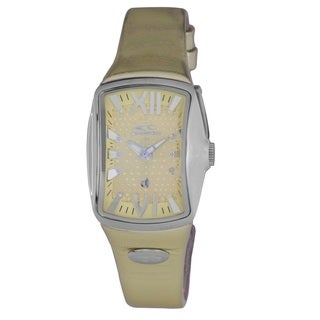 Chronotech Goldtone Leather Strap Women's Quartz Watch