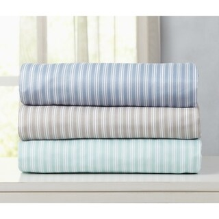 Acadia Collection Double Brushed Microfiber Striped Sheet Set