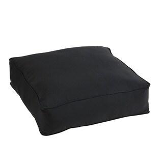 Shiel Black Sunbrella 26-inch Indoor/ Outdoor Corded Floor Pouf