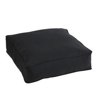 Shiel Black Sunbrella 26-inch Indoor/ Outdoor Corded Floor Pouf