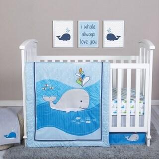 Trend Lab Whale Time 4 Piece Crib Bedding Set