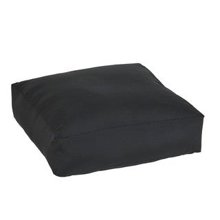 Shiel Sunbrella Black Indoor/ Outdoor 26 Inch Knife Edge Floor Pouf