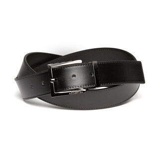 Versace Men's Black Leather Belt