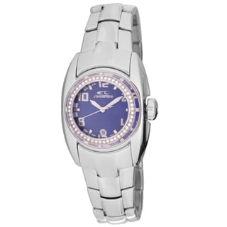 Chronotech Women's Quartz Crystal Stainless Steel Bracelet Watch