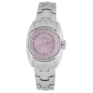 Chronotech Women's Stainless Steel Quartz Crystal Bracelet Watch