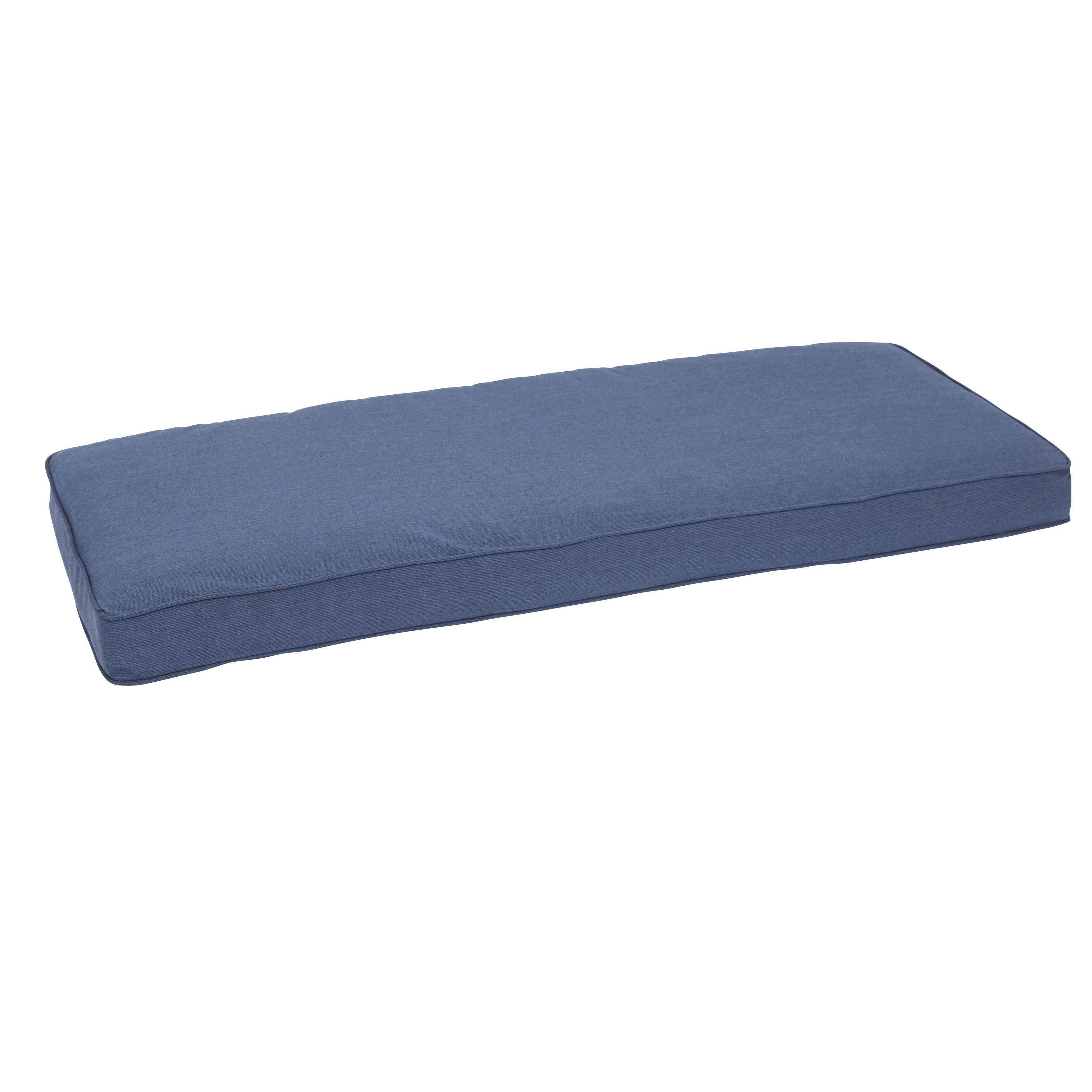 Can Sunbrella Spectrum Indigo Indoor Outdoor 48 Inch Corded Bench Cushion
