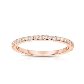 Link to Noray Designs 14K Rose Gold Diamond (0.40 Ct, G-H Color, SI2-I1 Clarity) Eternity Wedding Band - White G-H - White G-H Similar Items in Wedding Rings