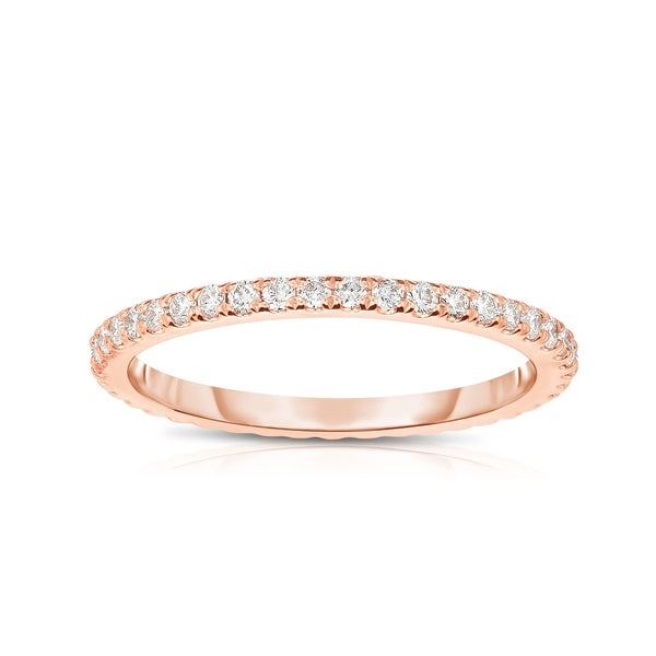 Noray Designs 14K Rose Gold Diamond (0.40 Ct, G-H Color, SI2-I1 Clarity) Eternity Wedding Band - White G-H - White G-H. Opens flyout.