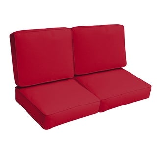 Westby Crimson Indoor/ Outdoor Corded Loveseat 4-pc Cushion Set