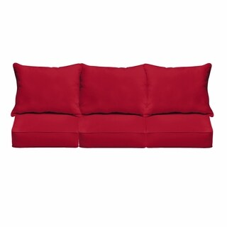 Westby Crimson Indoor/ Outdoor Corded Pillow and Cushion 6-pc Sofa Set