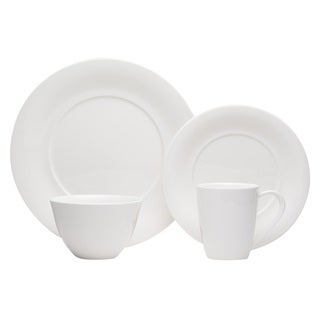 Red Vanilla Hospitality White Porcelain Round 24-piece Dinner Set (Service for 6)