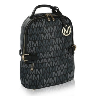 MKF Collection by Mia K Farrow Cleo M Signature Trendy Backpack (Option: Black)