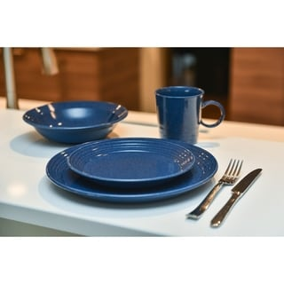 Link to Red Vanilla Terrastone Blue Stoneware 16-piece Dinner Set (Service for four) Similar Items in Dinnerware