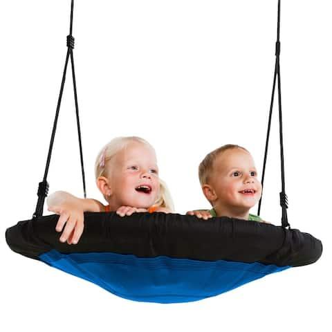"Swing-N-Slide 40"" Nest Swing - Blue with Black Ropes - 40"" L x 40"" W x 70"" H"