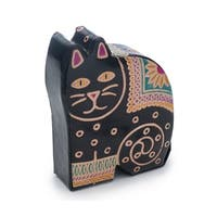 Handmade Leather Kitty Coin Bank (India)
