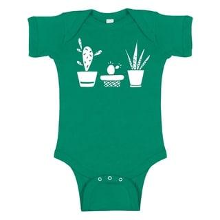 Rocket Bug Baby Succulent Silhouette Bodysuit
