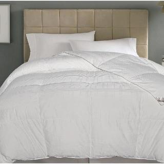 kathy ireland 500 Thread Count Damask White Goose Down Blend Comforter
