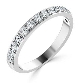 Auriya 10K Gold Stackable 3/8ct TDW Diamond Ring