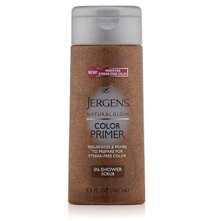 Jergens Natural Glow Color Primer In-Shower Scrub, 5.5 Ounce