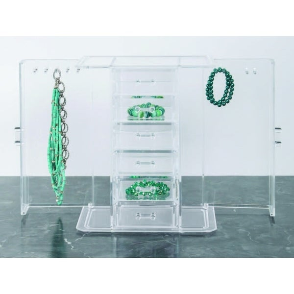 Richards Homewares 6 Drawer Jewelry Organizerwith 2 swing-out doors