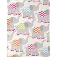 Manual Woodworkers Tiny Trunks Pink Coral Fleece Throw
