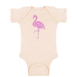 Rocket Bug Flamingo Baby Bodysuit