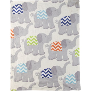 Manual Woodworkers Tiny Trunks Blue Coral Fleece Throw