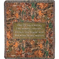 Manual Woodworkers Camo Funeral Multi Color Tapestry Throw