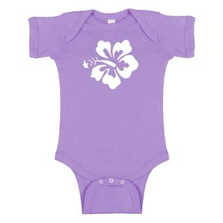 Rocket Bug Hibiscus Flower Baby Bodysuit