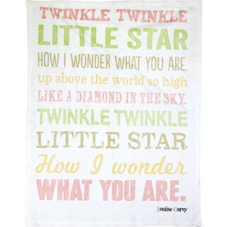 Manual Woodworkers Twinkle Twinkle Little Star Girl Multicolor Throw