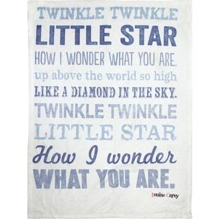 Manual Woodworkers Twinkle Twinkle LIttle Star Boy Coral Fleece Throw