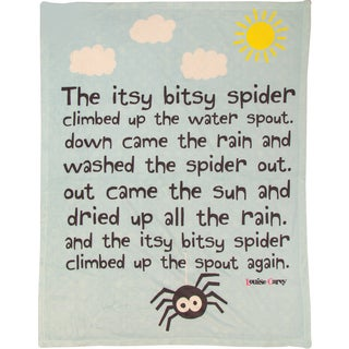Manual Woodworkers Itsy Bitsy Spider Coral Fleece Throw
