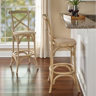Link to Delilah Washed Bar Stool Similar Items in Dining Room & Bar Furniture