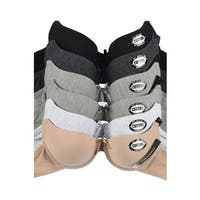 Mamia 6-Pack Bras with Adjustable Straps (Assorted Colors)