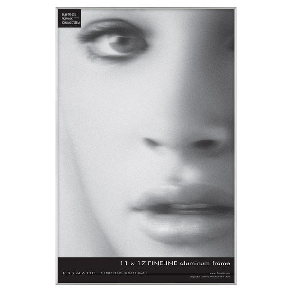 Mcs Industries Fineline Silver 11x17 Picturedocument Frame Free