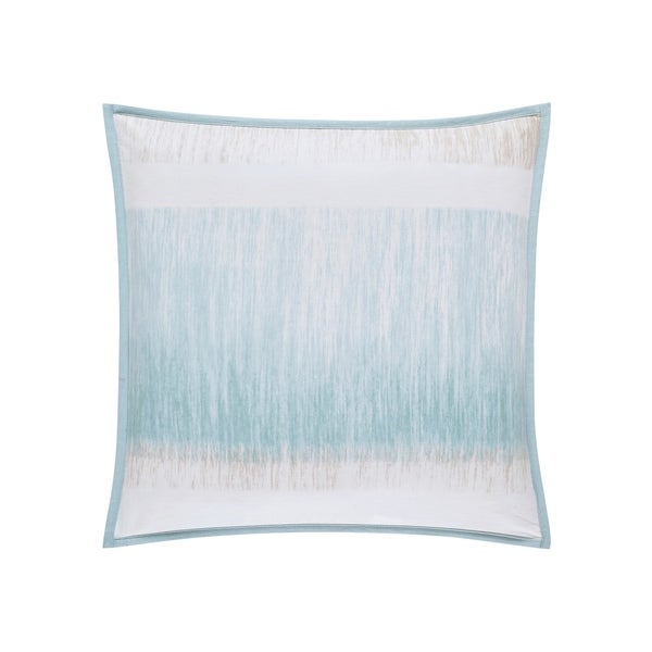 Five Queens Court Vance Twill Cotton 20 Inch Square Throw Pillow - Blue