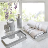 Urban Habitat Peyton Grey 5 Piece Bath Accessory and Hand Towel Set