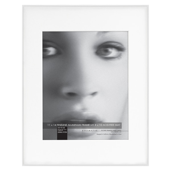 Fineline White Metal 11x14 Picture Frame