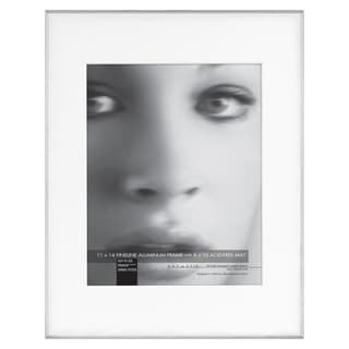 MCS Industries Fineline Silver 11-inch x 14-inch Picture Frame with 8-inch x 10-inch Mat