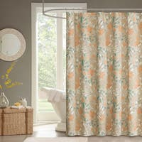 Madison Park Robin Spice Cotton Sateen Printed Shower Curtain