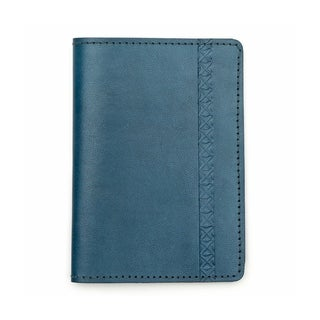 Sustainable Leather Passport Wallet - Blue (India)