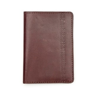 Sustainable Leather Passport Wallet - Brown (India)