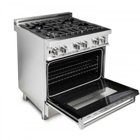 ZLINE 30 in. 4.0 cu. ft. 4 Gas Burner/Electric Oven Range (RA30)