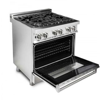 4 Gas Burner/Electric Oven Range